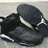 "Air Jordan 6 ""Black Cat"" 3M Mens Basketball Shoes"