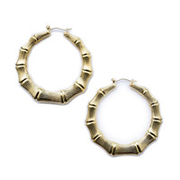 Bamboo Round Earrings