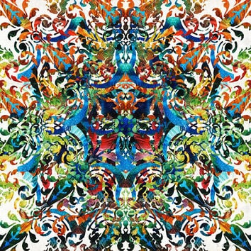 Bold Pattern Art - Color Fusion Design 8 By Sharon Cummings