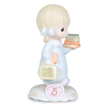 Precious Moments Growing in Grace Age Five Porcelain Figurine