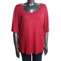 INC Womens Plus Daring Embellished Knit Pullover Top