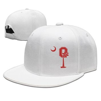 Ohio State Buckeyes Classic Logo Moon Funny Unisex Adult Womens Baseball Hats Mens Hip-hop Caps