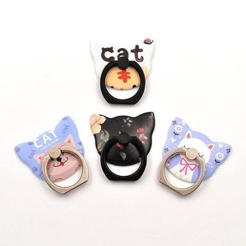ICIKU7Q cat style 360 Degree Finger Ring Mobile Phone Smartphone Pop Stand Holder Universal all Smart Phone Holders & Stands