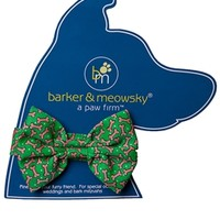 Christmas Bones Bow Tie by barker & meowsky at barker & meowsky a paw firm since 1998 carries dog clothes, dog accessories, dog carriers, dog collars, dog toys, dog beds and dog treats