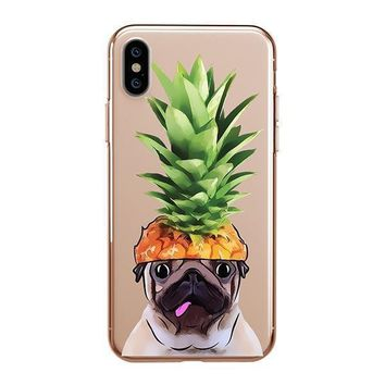 Pineapple Pug - iPhone Clear Case