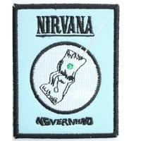 """NIRVANA Nevermind Sew On Embroidered Patch 3.1""""/8.4cm"""