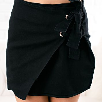 Kingsley Denim Skirt (Black)