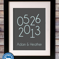 Special Date 8x10 Print - Wedding Date - Anniversary Gift - Wedding Gift - Gift for Wife - First Anniversary Paper Gift