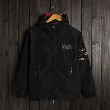 Men VANS Jacket Winter Fashion Stylish Alphabet Hats Double-layered Windbreaker [103858044940]