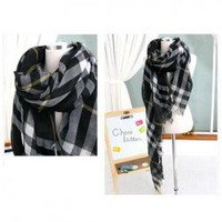 Korean Style Mix-Matched and Decent Plaid Scarf For Female China Wholesale - Everbuying.com
