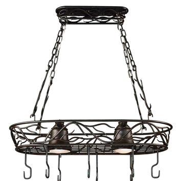 Design Craft Marbon 2-Light Pot Rack - Bronze Finish