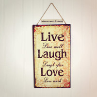 Live Love Laugh Wall Decor / Love Decor / Live Sign / Love Sign / Laugh Sign / Home Decor / Signage / Gifts under 25
