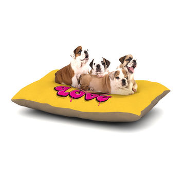 "Roberlan ""Modern Retro Love"" Yellow Neon Dog Bed"