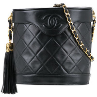 Chanel Vintage Quilted CC Fringe Chain Bag - Farfetch