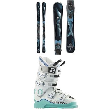 Salomon Astra Skis + E Lithium 10 W Bindings + Salomon X Max 90 Ski Boots - Women's