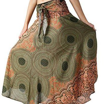 Womens Long Hippie Bohemian Skirt