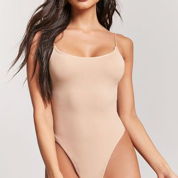 Seamless Ribbed Thong Bodysuit
