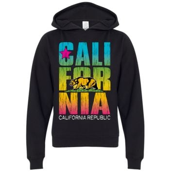California Republic Neon Retro Bold Premium Youth Sweatshirt Hoodie