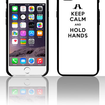 Keep Calm and Hold Hands (Otters holding hands) 5 5s 6 6plus phone cases