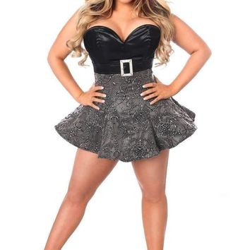 Daisy Corsets Top Drawer Embroidered Net Steel Boned Corset Dress
