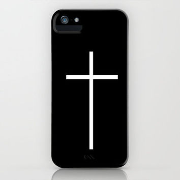 White Cross - FREE SHIPPING WORLDWIDE UNTIL SUNDAY, MARCH 31st (iPhone 3, 3s, 4, 4s, 5) iPhone Case by Kian Krashesky