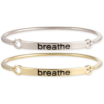 Breathe Stamped Word Bangle