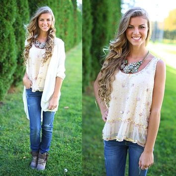 All In Sequins Top