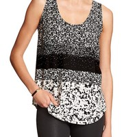 Banana Republic Factory Print Tank Size XS Petite - Black and white print