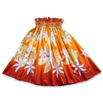 Sundance Orange Single Pa'u Hawaiian Hula Skirt
