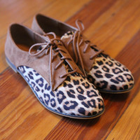 Leopard Oxford Shoes