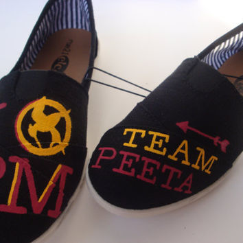 Team Peeta Hunger Games Shoes by HollyGrothues