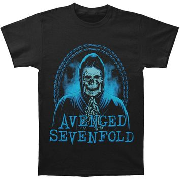 Avenged Sevenfold Men's  Praying Skeleton T-shirt Black Rockabilia