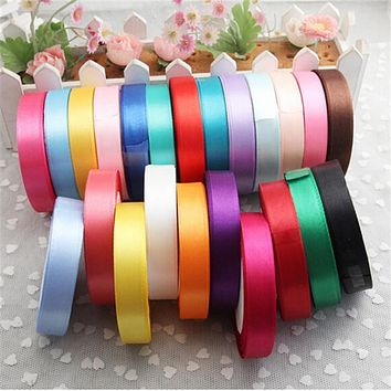 Pretty Silk Satin Ribbon 15mm 25 Yards 22M Wedding Party Decoration Invitation Card Gift Wrapping Christmas Supplies riband