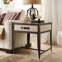 HomeVance Waverly Steamer Trunk End Table (Brown)