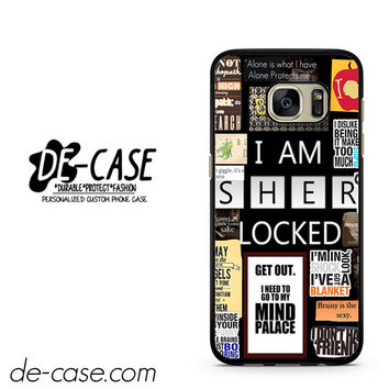 Sherlock Holmes Wallpaper Bbc DEAL-9564 Samsung Phonecase Cover For Samsung Galaxy S7 / S7 Edge