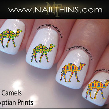 Camels Nail Decal Egyptian Printed Camel Nail Art NAILTHINS