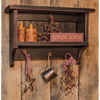 Primitive Distressed Shelf