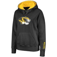 Missouri Tigers Women's Black Twill Victory Lap Hooded Sweatshirt