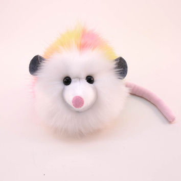 Rainbow Prism Opossum Stuffed Animal Plush Toy