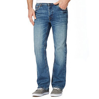 Mens St George by Duffer Mid blue bootcut jeans
