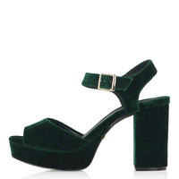 LIMBO Velvet Platform Sandals - Platforms - Shoes