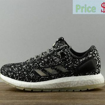 shoe fit Sneakerboy x Wish x Adidas Pure Boost Glow In The Dark Mens Running Sneakers S80980 sneaker