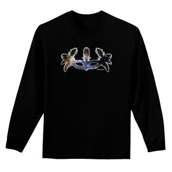 Galaxy Masquerade Mask Adult Long Sleeve Dark T-Shirt by TooLoud