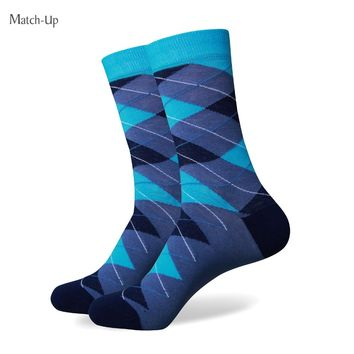 Match-Up Free shipping Men's combed cotton socks high quality fashion christmas MEN argyle socks
