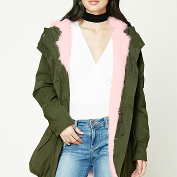 Hooded Faux Fur Parka