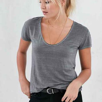 Silence + Noise Ingrid Scoop-Neck Tee
