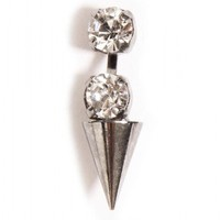 Rhinestone Spike Earrings