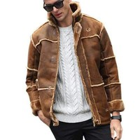 Boomber Sherpa Chamois Leather Jacket