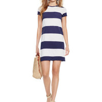 STRIPED COTTON TEE DRESS