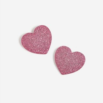 **Pink Glitter Stud Earrings